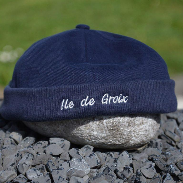 bonnet brodé ile de groix